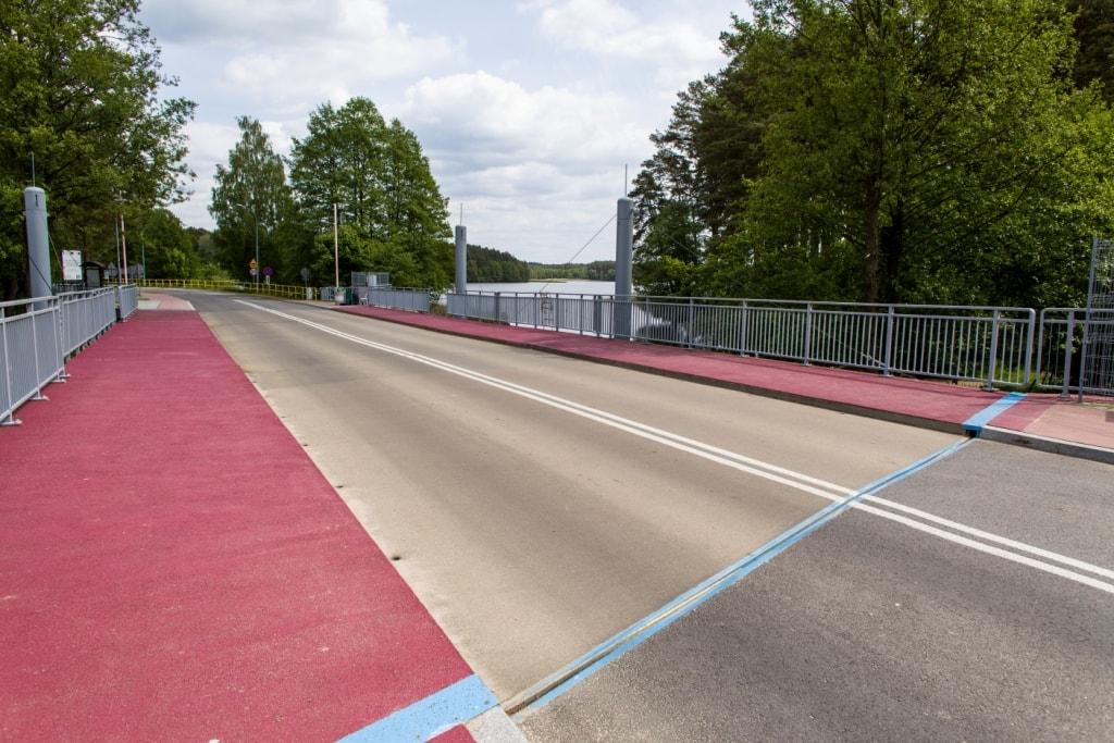 Most zwodzony w Małych Swornegaciach - nawierzchnia